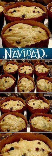 Pan Dulce Casero de Navidad. #panettone #panetone #pandulce #paneton #navideño #navidad #navideña #merrychristmas #postres #cheesecake #cakes #pan #panfrances #panes #pantone #pan #recetas #recipe #casero #torta #tartas #pastel #nestlecocina #bizcocho #bizcochuelo #tasty #cocina #chocolate Si te gusta dinos HOLA y dale a Me Gusta MIREN... Xmas Food, Christmas Desserts, Homemade Christmas, Christmas Christmas, Mexican Dinner Recipes, Pan Bread, Pastry And Bakery, Sweet Bread, Food And Drink