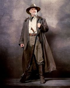 Promo photo of Sean Connery as Allan Quatermain in 'The League of Extraordinary Gentlemen' (2003). The film was directed by Stephen Norrington who is best known for directing the 1998 movie 'Blade'. #ConneryDay