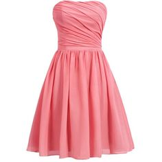 Dresstells Women's Short Strapless Bridesmaid Dress Homecoming Party... ($39) ❤ liked on Polyvore featuring dresses, red cocktail dress, strapless cocktail dress, red dress, short strapless dresses and short strapless cocktail dress