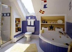 10 Little Boys Bathroom Design Ideas - The most logical theme of a boys bathroom is the sea. Everything associated with it would work well. Although pirates and Navy are the most coolest themes. Of course hunting or sport would work great too.