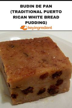 Budin de Pan, Traditional Puerto Rican White Bread Pudding Recipe Try this traditional Puerto Rican dessert at home! This sweet, dense budin de pan is a delicious treat to enjoy at any time of the year. Budin de pan translates into a. Grilled Peach Salad, Grilled Peaches, Puerto Rican Recipes, Cuban Recipes, Steak Recipes, Delicious Desserts, Dessert Recipes, Yummy Food, Puerto Rican Bread Pudding Recipe