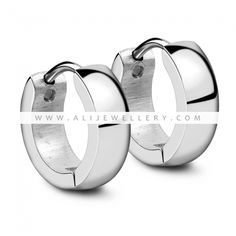 Cute Hoop Earrings For Women And Men Gold Or Rose Gold Plated Stainless Steel Metal Keep Color