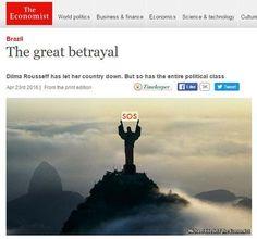 Disso Voce Sabia?: Cristo Redentor pede socorro na capa da 'Economist'