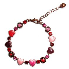 PINK SWEETHEART BRACELET Unusual Jewelry, Good And Cheap, Beaded Necklace, Jewellery, Bracelets, Pink, Beaded Collar, Jewels, Pearl Necklace