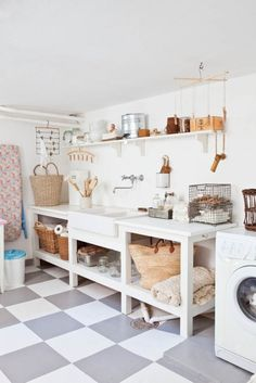 A laundry room should be one of the most workable rooms in your home. Whether you are building a new home or remodeling, there are some specifications and dimensions that you should keep in mind as you design your laundry room. Basement Flooring, Room Design, Laundry Mud Room, Interior, Basement Laundry Room, Home, Laundry Room Decor, Room Storage Diy, Bathrooms Remodel