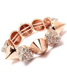 Every fashionista knows that accessories are a must for stylishly finishing off any ensemble and this spiked bracelet will do just that! Bold spikes adorned with crystals will add that new season edge to your look. $12.99