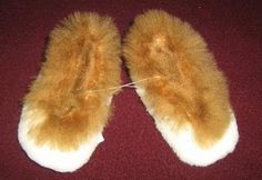 Brown and white Slippers, bed shoes, made of pure Merino Sheep and Alpaca fur