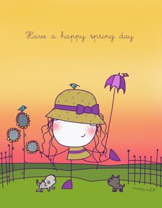 Have a happy spring day Stick Figure Animation, Stick Figure Drawing, Pictures To Draw, Cute Pictures, Happy Spring Day, Message Positif, Happy Wishes, Stick Figures, Cute Images