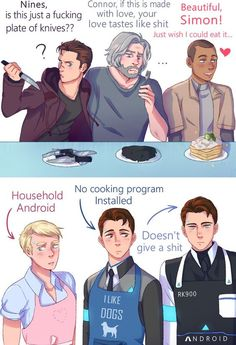 Become Human Memes/Comics - 103 my name is cyberlife, im the connor sent by androidmy name is cyberlife, im the connor sent by android Quantic Dream, Detroit Become Human Connor, Becoming Human, Funny Memes, Hilarious, I Like Dogs, Lol, My Guy, Luther
