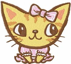 Cute kitty embroidery design 30. Machine embroidery design. www.embroideres.com