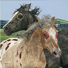 Ebenezer and the War Horse-Horse/NativebyJudyLarson