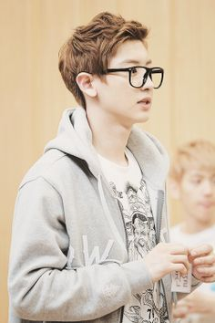 "Exo - Chanyeol ""I love him in those nerd glasses"""