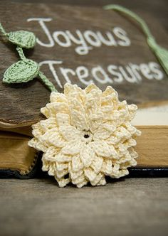 Crochet Flower PATTERN Dahlia Flower PDF by joyoustreasures, $3.50