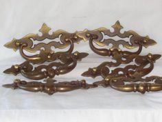 Brass Drawer Dresser Pulls Handles Furniture by MemmoryAlley, $39.00
