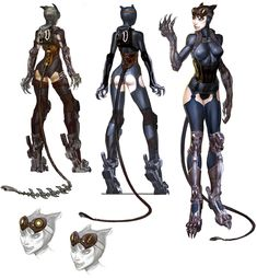 Catwoman Designs - Injustice, Gods among us.