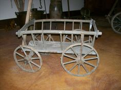 Small Goat/Harvest Wooden Cart....fill this with flower pots!!