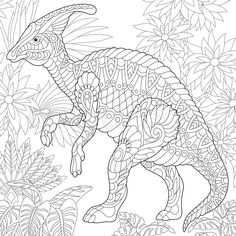 Ankylosaurus Dinosaur Dino Coloring Pages Animal Book For Adults Instant Download Print