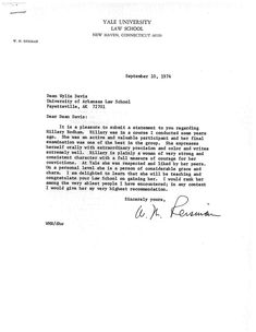 Yale Cover Letter Clinton's Cover Letter For The Job  Personnel File Details
