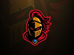 Golden Knight Mascot Logo designed by Tom Hayes for Visuals by Impulse. Connect with them on Dribbble; Spartan Logo, Knight Logo, Team Logo Design, Knight Games, Knights Helmet, Helmet Logo, Design Art, Graphic Design, Esports Logo