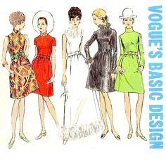 60s VINTAGE VOGUE MISSES' Sewing Pattern  ca. by KeepsakesStudio