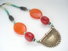 Tibetan Collectible Ethnic Necklace-Nepalese Large by AnnaRecycle