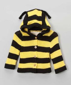 Take a look at this Black Yellow Bumblebee Sweater - Infant Toddler by Toto Knits on today! Gothic Baby, Animal Sweater, Baby Comforter, Sweater Making, Black N Yellow, Organic Cotton, Jumper, Kids Outfits, Stripes