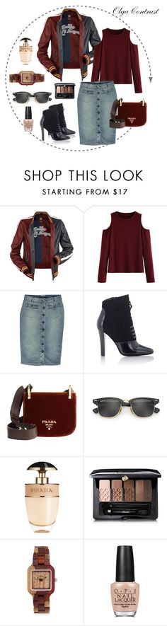 """08.09.2016"" by olgacontrast on Polyvore featuring мода, 3.1 Phillip Lim, Prada, Ray-Ban, Guerlain и OPI"