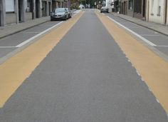 Fietssuggestiestroken Destelbergen by Triflex België , via Behance