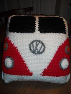 Ravelry: VW Van Pillow by Yarn Twins