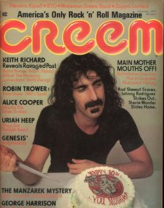 Creem December 1974 - EphemeraForever.com Alice Cooper, Frank Zappa, Keith Richards, George Harrison, Jimi Hendrix, Frank Vincent, Robin Trower, Helen Reddy, Music Pictures