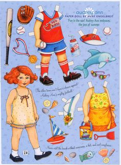 Image detail for -Mary Engelbreit Paper Doll, Audrey Ann Ready For Summer, Collage ...
