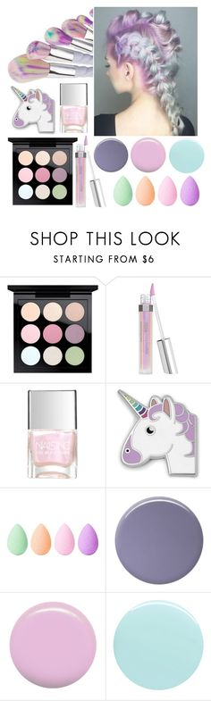 """Pastel Unicorn"" by kylie2357 ❤ liked on Polyvore featuring beauty, MAC Cosmetics, Bare Escentuals, FOSSIL, beautyblender, Lauren B. Beauty, Jin Soon and JINsoon"
