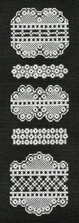 Hapsburg Lace Patterns and Kits - Berlin Embroidery