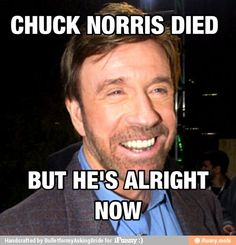 Who doesn't love Chuck Norris??