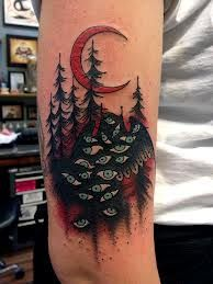 Twin Peaks tattoo - owls