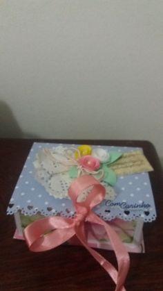 caixa - embalagem para  sabonete decorado.