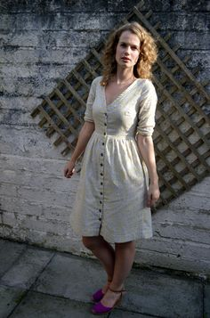 View details for the project Double Gauze Darling Ranges Dress on BurdaStyle. Sewing Clothes, Diy Clothes, Clothes For Women, Gauze Dress, Patchwork Dress, Dress Sewing Patterns, Handmade Clothes, Beautiful Outfits, Cute Dresses