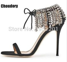 ce8ebe1dae5e20 Summer Bling Bling Women Gladiator Sandals Brand Suede Strappy High Heels  Shoes Woman Lace Up Pumps Rhinestone Cover Heel Sandal