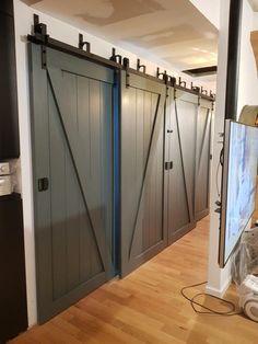 Triple Sliding Pantry Door Using Barn Door Hardware