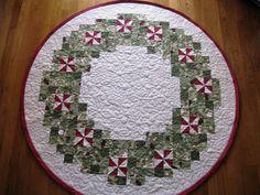 Quilt Hollow: Peppermint Wreath Tree Skirt