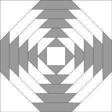 Pineapple quilt block - light 'X'