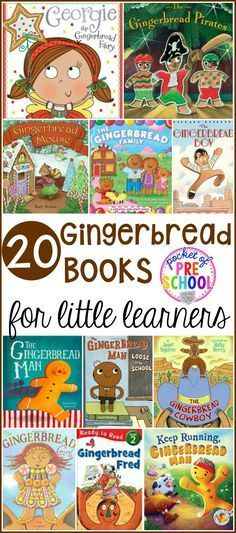 20 yummy Gingerbread Books for preschool, pre-k, and kindergarten that will keep your students engaged during circle time!