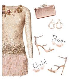 """Rose Gold"" by rasa-j ❤ liked on Polyvore featuring Matthew Williamson, Ileana Makri, Giuseppe Zanotti, KOTUR, rosegold and womensFashion"