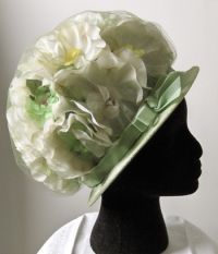 1960s vintage floral bubble hat, OMG I had one just like this in yellow.....