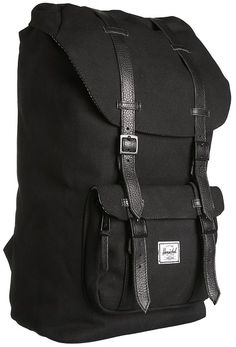 $139, Black Backpack: Herschel Supply Co Little America Canvas. Sold by Zappos. Click for more info: http://lookastic.com/women/shop_items/16995/redirect