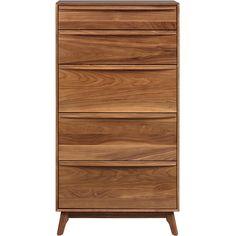Copeland Furniture // Catalina Solid Walnut 5-Drawer Dresser