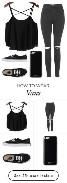 """Untitled #540"" by tokyoghoul1 on Polyvore featuring мода, Topshop, Vans, Gooey, women's clothing, women's fashion, women, female, woman и misses"