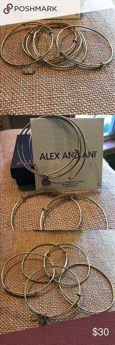 Alex and Ani Ribbed Russian Gold Bangle Set of 5 Excellent condition Alex and ANI Ribbed Russian Gold Bangles, Set of five (5) Bangles.  Will come with A&A card and box. Alex & Ani Jewelry Bracelets
