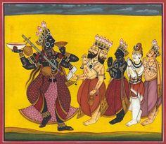 Brahma, Vishnu, Shiva and Indra Pray to Adi Devi (Tantric Devi Series)