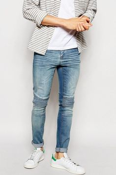Discover men's jeans from ASOS. Hundreds of different jean styles,  including skinny jeans, straight leg jeans, bootcut and coloured denim.
